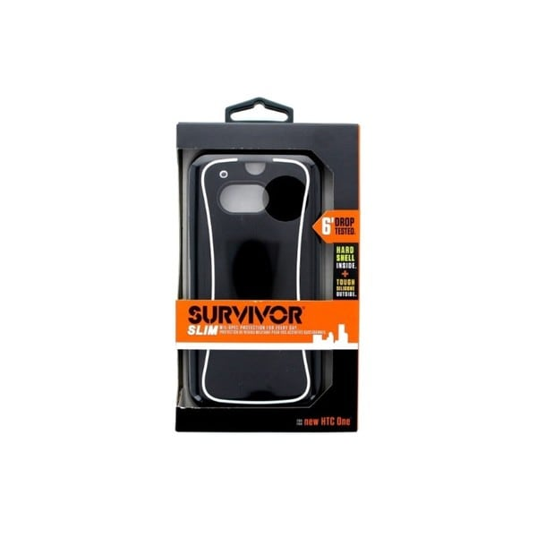 Griffin Survivor Black/White Slim Case for HTC One M8