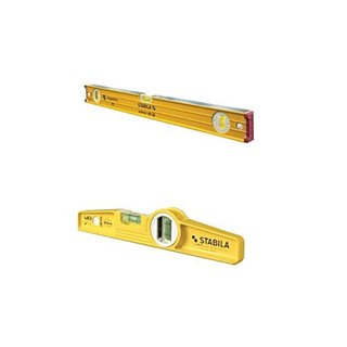 Stabila 38624 Professional Builders Level and Stabila 25100 Torpedo Level