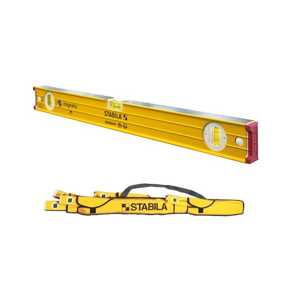 "Stabila 24"" Heavy Duty Professional Magnetic Type 96M Builders Level with 5-Pocket Case"
