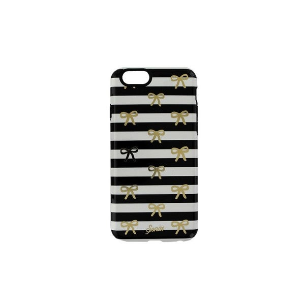 Cricket Sonix Black 4.7-inch Inlay Gold Bow Stripe Case for iPhone 6