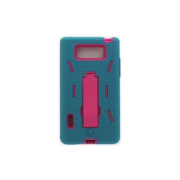 Case Mate Open Mobile Sky Blue/Fuchsia Hybrid Case with Stand for LG AS730
