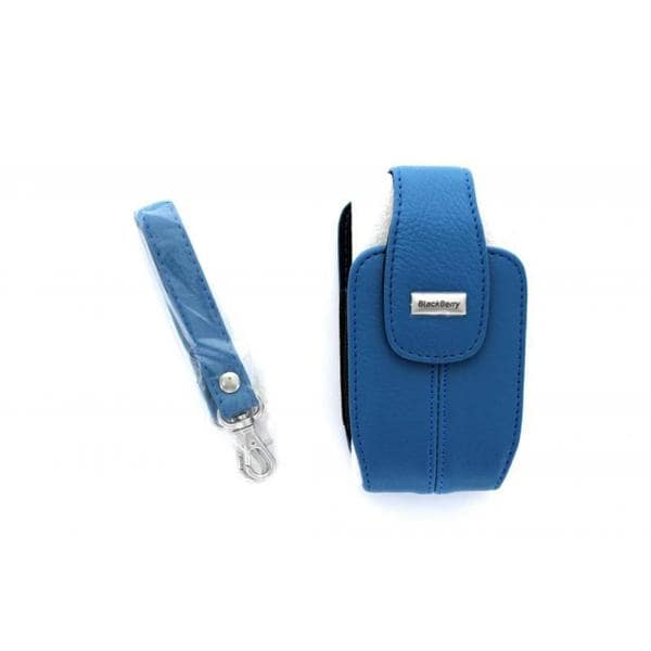 BlackBerry Light Blue Leather Pouch Case for BlackBerry Curve 3G