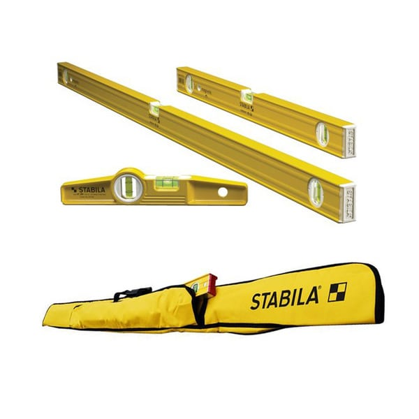 Stabila 3-Level Magnetic Pro-Set with 5-Pocket Case for Torpedo Level (and options)