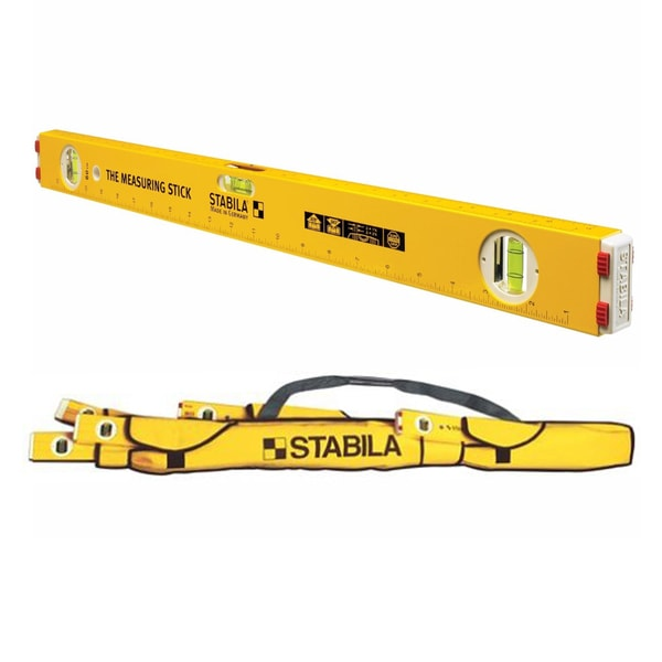 Stabila Type 80A-2 Measuring Stick Level w/ 5-Pocket Case for Torpedo Level