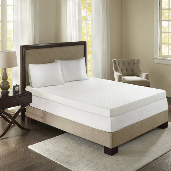Sleep Philosophy Flexapedic 4-inch Memory Foam Mattress Topper
