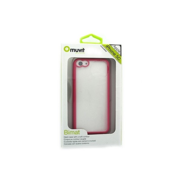 Muvit Bimat Clear/Pink Hard Case for Apple iPhone 5C