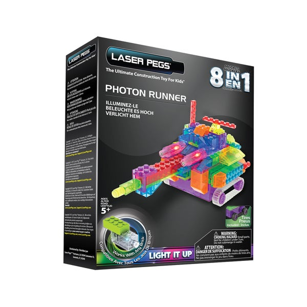 Laser Pegs 8-in-1 Photon Runner Lighted Construction Toy