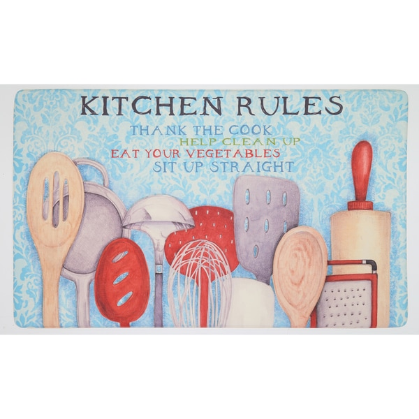 Mohawk Home Rules With Utensils Dri- Pro Comfort Mat (1'6 x 2'6)