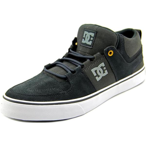 DC Shoes Men's 'Lynx Vulc Mid' Grey Regular Suede Athletic Shoes