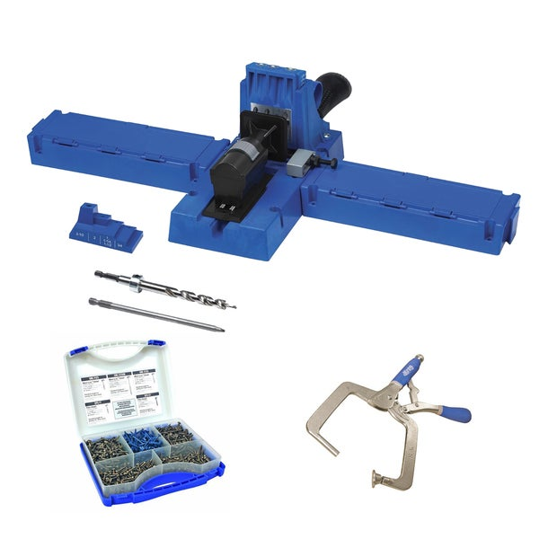 Kreg K5 Pocket-Hole Jig with Pocket-Hole Screw Kit and Right Angle Clamp
