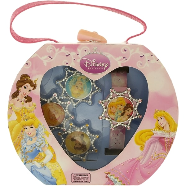 Disney Princess PRS035T Pink Plastic Girls' Quartz Watch