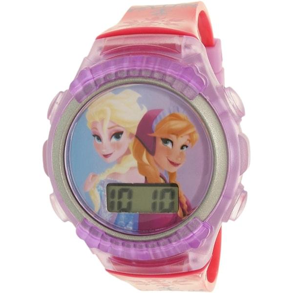 Disney Girls' Frozen FNFKD013 Purple Rubber Quartz Watch