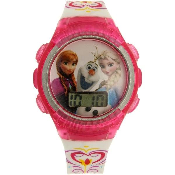 Disney 'Frozen' FNFKD062 Pink Plastic Girls' Quartz Watch