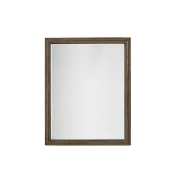 Grey Veneer Vertical Accent Mirror