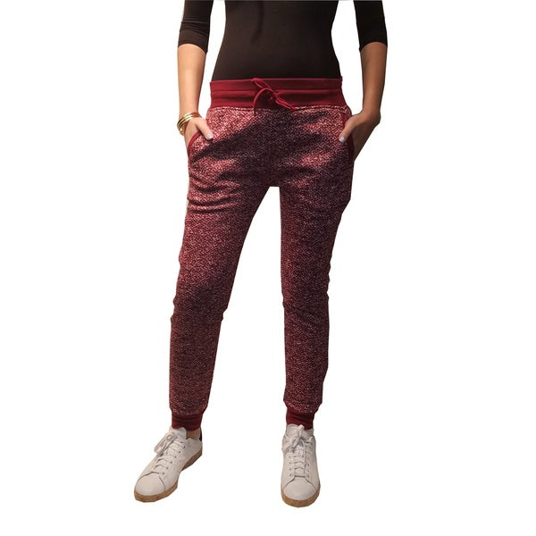 Riviera Active Red Fleece Jogger Pants