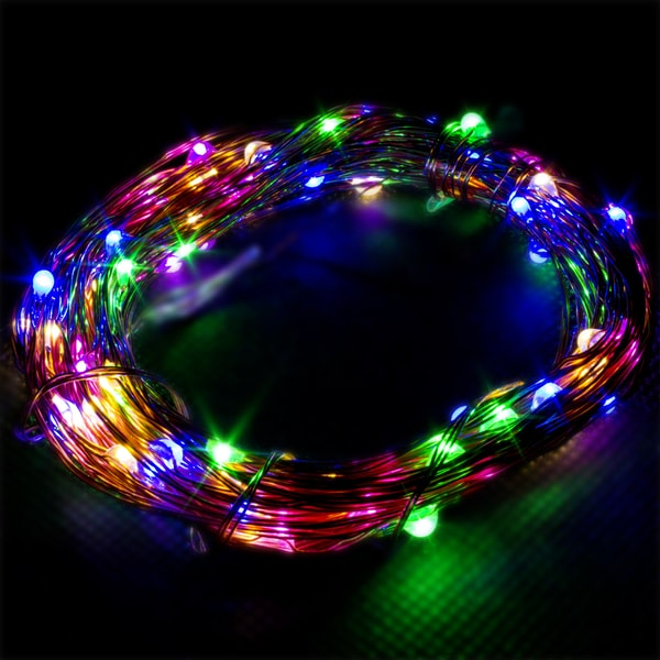 LED Concepts Copper Wire Multicolored LED String Lights