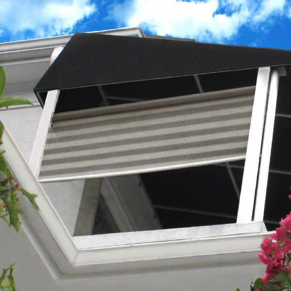 Lewis Hyman Radiance St. Croix Outdoor/Indoor Rollup Sunshade Bohemian Breeze Stripe Finish 20839555