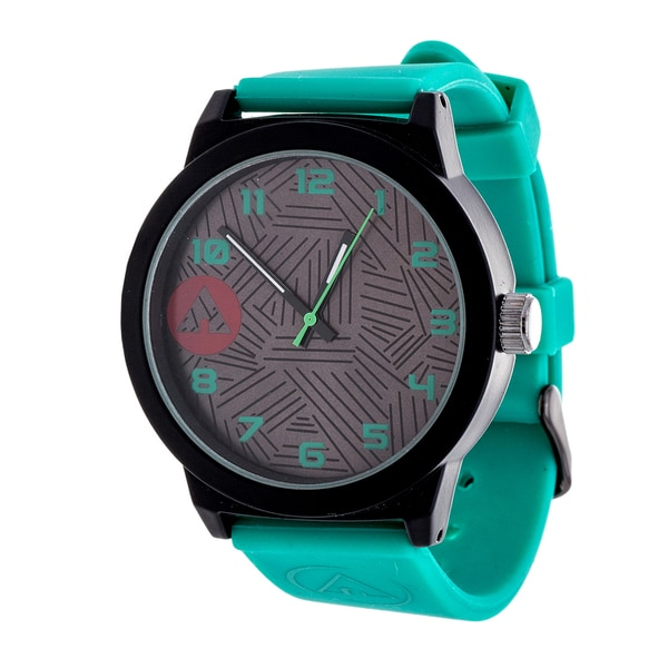 Airwalk Solid Green Silicon Strap Analog Watch