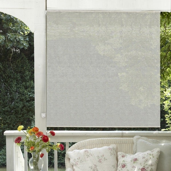Lewis Hyman Radiance St. Croix Outdoor/Indoor Rollup Sunshade Sand Dollar Finish 20839629