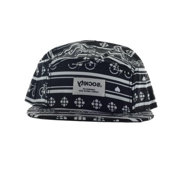 Society Men's 500 5 Panel Black Hat