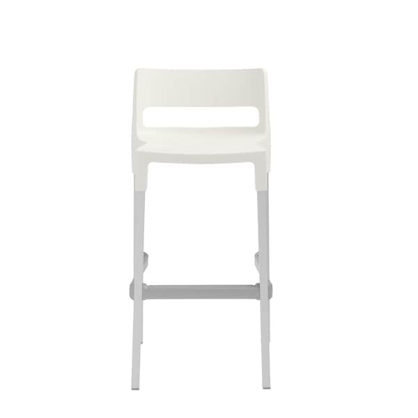 Divo Linen White Stackable Bar Stool (Set of 4)