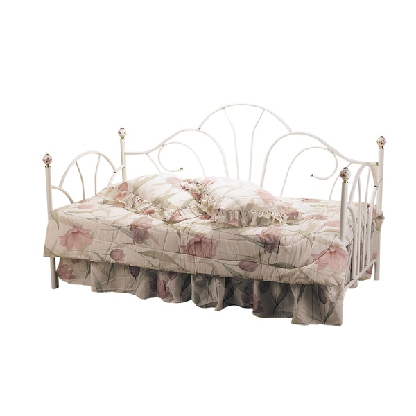 Acme Furniture 02076W Provence Day Bed with Porcelain Knobs in Casual Style and White Finish