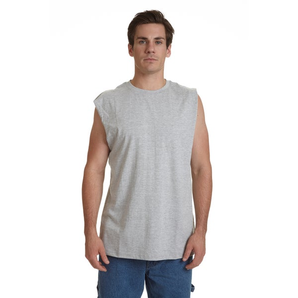 Stanley Men's Blue/Black/Grey Cotton Blend Sleeveless Tee