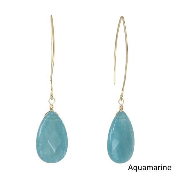 J&H Designs Gemstone Teardrop Earrings 20844641