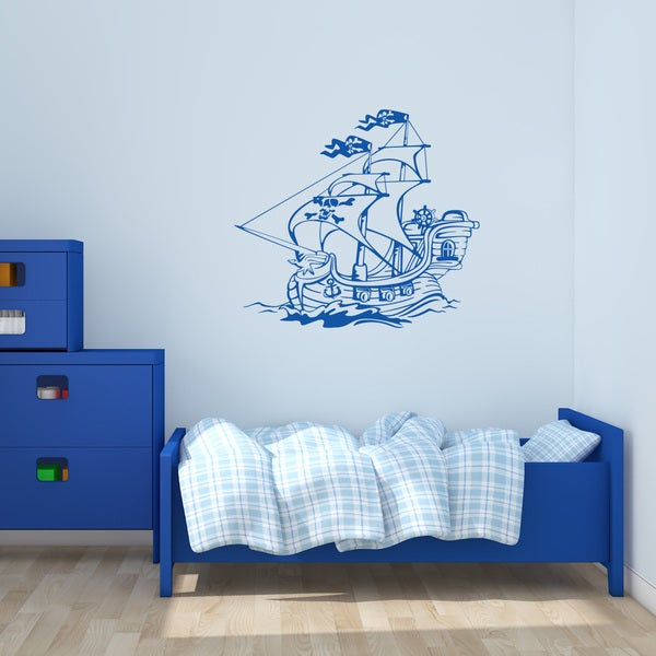 'Pirate Ship IV' Vinyl Wall Art Decal