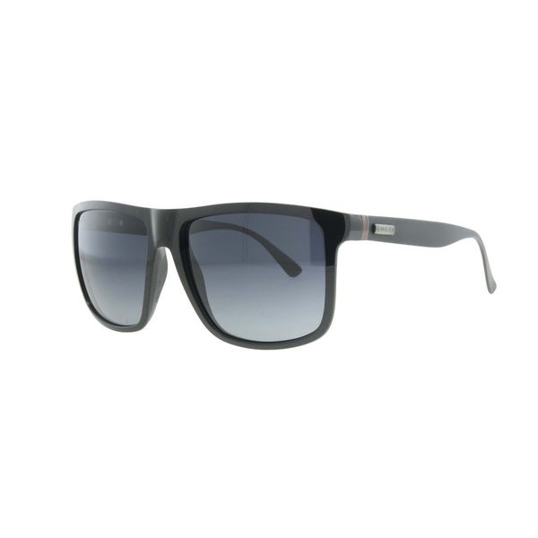 Gucci Mens GG1075/S 0GVB Black Rectangular Plastic Sunglasses