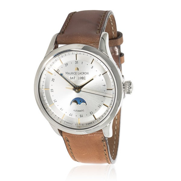 Pre-owned Maurice Lacroix Les Classiques LC6068-SS001-131 Mens Watch in Stainless Steel