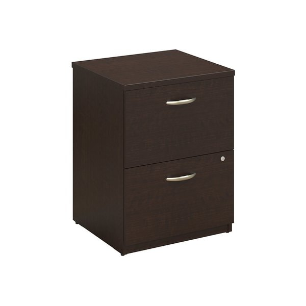 Series C Elite 24W 2 Drawer Pedestal in Mocha Cherry