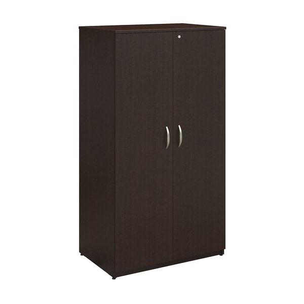 Series C Elite 36W Mocha Cherry Storage Wardrobe Tower