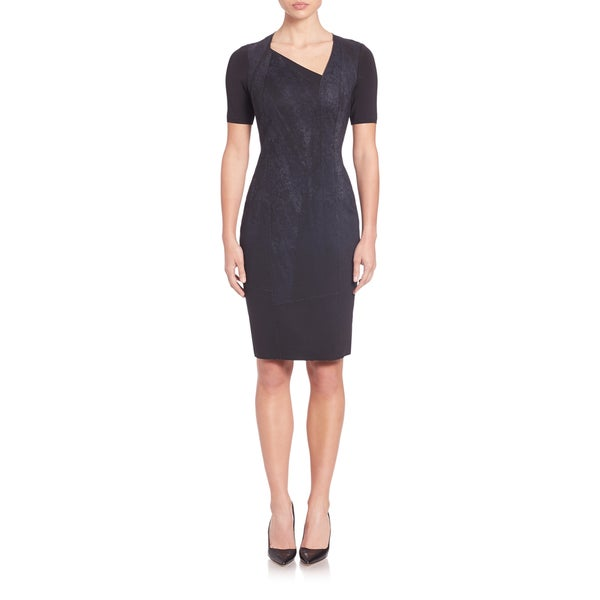 Elie Tahari Karli Black Scuba Dress
