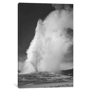 iCanvas Old Faithful Geyser, Yellowstone National Park by Ansel Adams Canvas Print