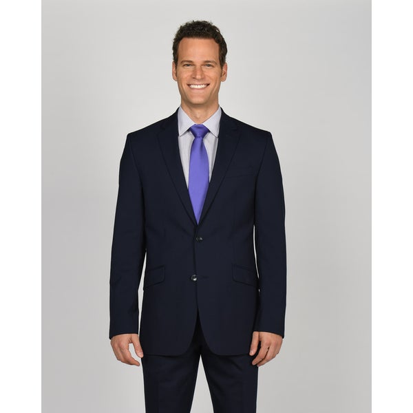 Kenneth Cole New York Suit Separates Men's Navy Polyester Blend Jacket