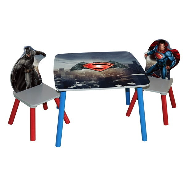 'Batman vs Superman: Dawn of Justice' Wooden Table and Chairs Set