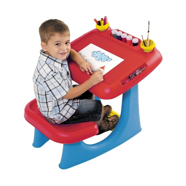 Keter Sit & Draw Kids Art Table Creativity Desk, with Arts and Crafts Storage, and Removable Cups 20862864
