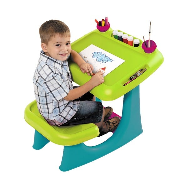 Keter Sit and Draw Kids Indoor Outdoor Drawing Table