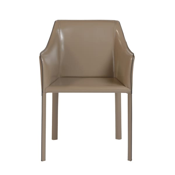 Eysen Taupe Leather Arm Chair