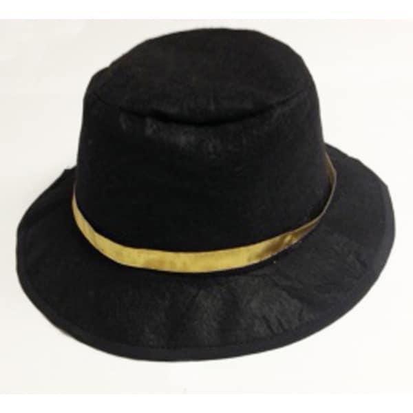 Elegant Moments Black Wool-blend Gangster Costume Hat costumes