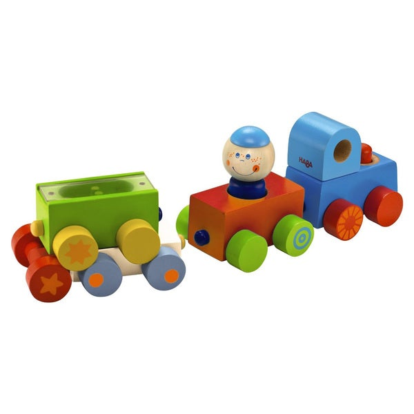 Haba Habatown All Aboard Multicolor Wood Magnetic Stacking Train