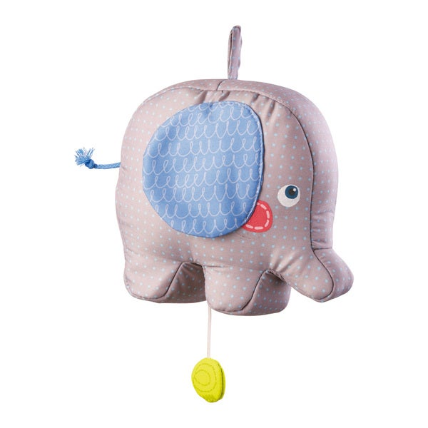 Haba Elephant Egon Multicolored Fabric Musical Box Baby Toy