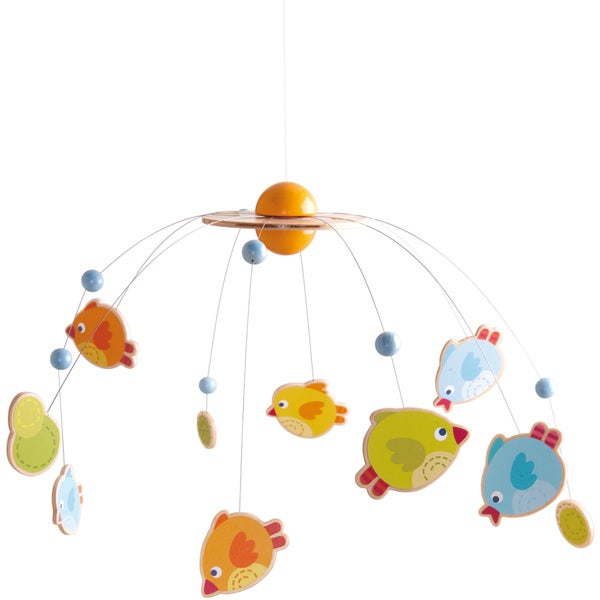 Haba Multicolor Fabric Little Birds Crib Mobile