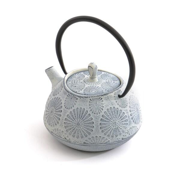 Studio White Flower 1.2-quart Cast Iron Teapot 20870223