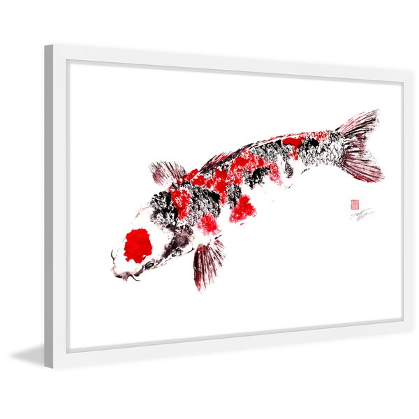 Marmont Hill - 'Nishiki Goi' by Dwight Hwang Framed Painting Print