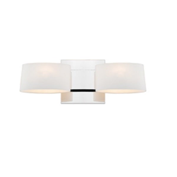 Golden Lighting Iberlamp Clio #C130-W2-CH-OP 2-light Wall Sconce