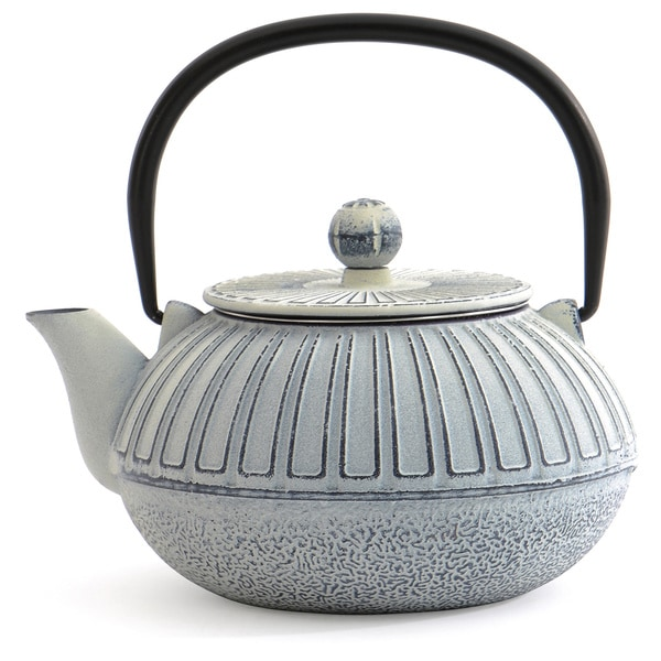 White Cast Iron 3.5-cup Capacity Teapot