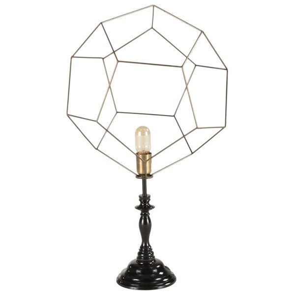 Nikola Black/Gold Abstract Sphere Table Lamp
