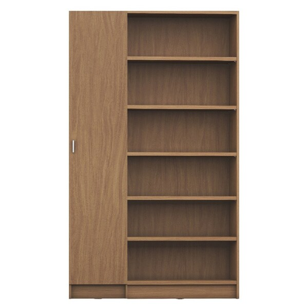 Manhattan Comfort Greenwich 2- Piece Bookcase 12- Wide and Narrow Shelves with 2 Narrow Doors